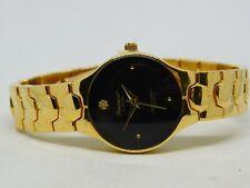 Precision by Gruen Diamond Gold Tone Quartz Analog Ladies Watch Sz. 6 3/4''