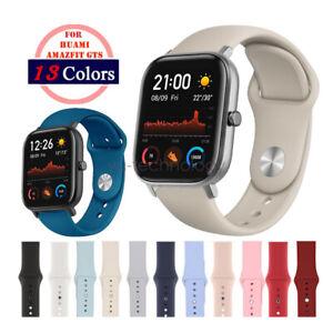 A# 20mm Silikon Armband Sportarmband Uhrenarmband für Amazfit GTS Watch Band