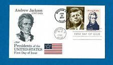 US FDC 2216G, ANDREW JACKSON, W/DUAL CANX JOHN F KENNEDY, ARTMASTER CACHET