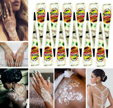 5x Golecha Henna Cone ( ) White Each 25g for Mehandi Tatoo - Clinically Tested