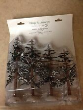New Department 56 Villages Winter Lodge Pines Set Of 4 4025363 NIB