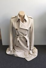 BURBERRY $2650 Trench Coat Stone Beige Size AUS 10 US 8 US 10 NEW