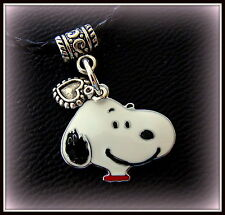 SNOOPY the Dog (Peanuts Character) Necklace PENDANT Jewelry - on braided cord