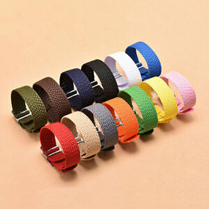 Nylon Braided Solo Loop Strap Band Watchstrap Replacement 14 16 18 20 22 mm