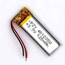 3.7 V 120mAh 401235 Li-Polymer Rechargeable Battery Liion LiPo Cell for GPS MP3