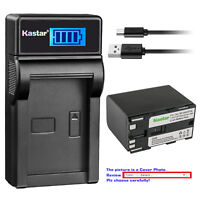 Kastar Battery LCD Charger for Canon BP-970G BP-945 & Canon Optura Optura Pi