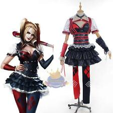 Batman Arkham Asylum City Knight Harley Quinn Costume Custom Made Cosplay Dress