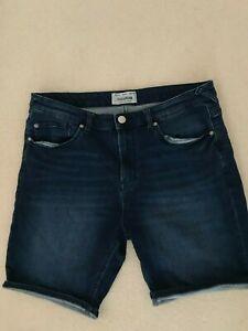 Mens Pull & Bear Blue Denim Shorts Size 36 Waist