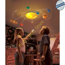 My Room Solar System Uncle Milton Model Nib Remote Sun Light Planets Ceiling New