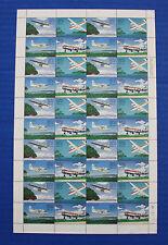 Palau (#C10-C13) 1985 Trans-Pacific Airmail Anniversary MNH sheet
