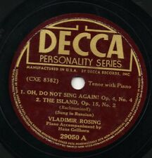 Decca 29050 VLADIMIR ROSING Sings Rachmaninoff in Russian! 78 rpm
