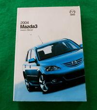 2004 04 Mazda 3 Owners Manual Near New B46