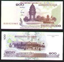 Cambodia(2001)100 Riels Consecutive Run of 10 UNC .Free Ship