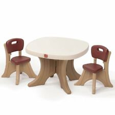 Step2 Kids Small Desk Table and Chairs set,Craft Table