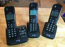 BT XD56 Trio Cordless call blocker Phones with Answering Machine - Black