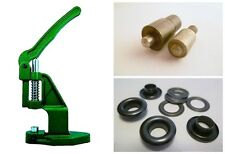 Eyelet press + Tool + 250 6,0mm RUST-FREE black, for Leather, Textile, Felt