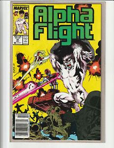 ALPHA FLIGHT #51 ***JIM LEE, NEWSSTAND (1987) VF/VF+ MARVEL COMICS