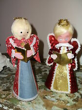 Vintage Angel Boy/Girl Christmas Carolers - cardboard set