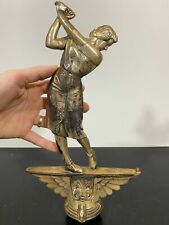 Vtg Rare Architectural Salvage Finial Lady Golfer Art Statue Trophy Figure