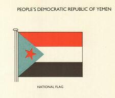 YEMEN FLAGS. People's Democratic Republic of Yemen. National Flag 1979 print