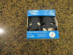 Carter's Addison blue Infant 3 Leather Sandals Crawl stage 1 NIB 6 to 9 months
