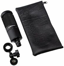 Audio Technica AT2020 Bundle-Condenser Studio Microphone+PopFilter+Mic Cable NEW