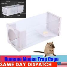 1-10X Humane Rat Trap Cage Live Animal Pest Rodent Mice Mouse Control Bait Catch