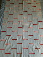 """Authentic African Handwoven White/Orange Mud Cloth Fabric From Mali sz 63 by 42"""""""