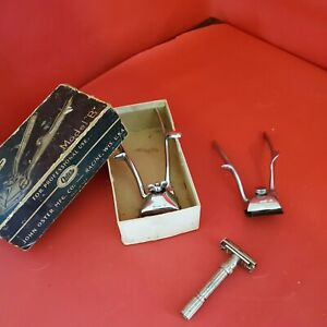 Oster Model B Vintage 1940s Hair Clippers  w/ Box priests merlin and razor lot