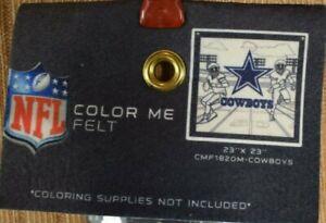 NFL Color Me Felt 23 x 23 Brass Grommet Banner - Dallas Cowboys