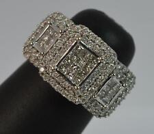 Huge 1.00ct Diamond 18ct White Gold Ladies Cluster Ring D0670