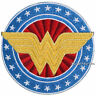 DC COMICS WONDER WOMAN Wings Logo Stars Symbol Embroidered IRON ON Patch Badge