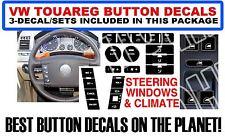VW Touareg Button Decal Sticker Set Window Climate Steering 3-Piece Set
