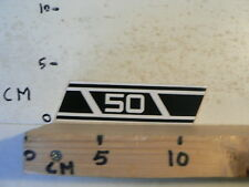 STICKER,DECAL 50 YAMAHA ? WHITE NUMBERS AND STRIPES OR ZUNDAPP ? B