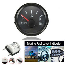 52mm  240-33 Ohms Black Plastic Car Fuel Level Gauge Marine Trim Tank Indicator
