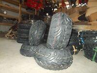 (4) Front Rear ATV Tires 25X8-12 / 25X10-12 Suzuki Eiger 400 King Quad 450 700