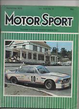 MOTOR SPORT SEPTEMBER 1973