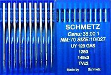SCHMETZ TVX3 UY128GAS NM70 SIZE10/027 COVERSEAM INDUSTRIAL SEWING MACHINE NEEDLE