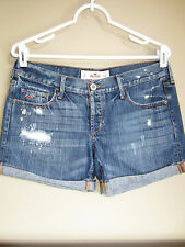 Hollister Distressed Roll Cuffed Midi Shorts 5 27 Bermuda Mid Thigh Abercrombie