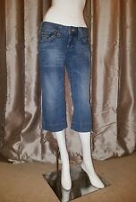 0aefc1089 True Religion Women s Carmen Crop Jeans 27 x 21 Capri Low Rise Blue Denim  Pants