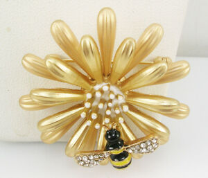 """Kenneth Jay Lane Flower with  Brooch  1 1/2""""   """" Couture"""""""