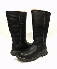 UGG 5490 BROOKS TALL SHEEPSKIN LINED BLACK LEATHER US SIZE 8 -NEW