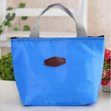 Blue Waterproof Portable Picnic Insulated Food Storage Box Tote Lunchboxes Bags
