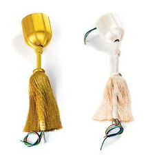Seiden Aufhängung Posament für Kronleuchter Lüster Leuchten Gold Creme Stahlseil