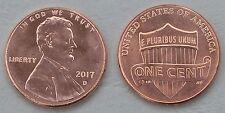 Estados unidos 1 centavos Lincoln 2017 d unz.