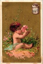 6 cards c1872 LIEBIG extract S 25 complete set, AMOURS CHERUBS litho VG