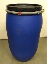 Deckelfass aus Polyethylen (PE) mit Spannring 220l blau Deckel Fass Tonne Faß