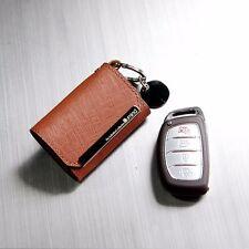 Leather Smart Key Holder Case Cover For Hyundai Elantra 2014~2015