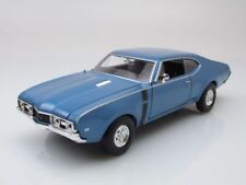 Oldsmobile 442 1969 bleu métallique, Modèle de voiture 1:24 / Welly