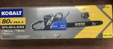 "(New) Kobalt 80 Volt Cordless 18"" Chainsaw with 80V Battery & Charger"